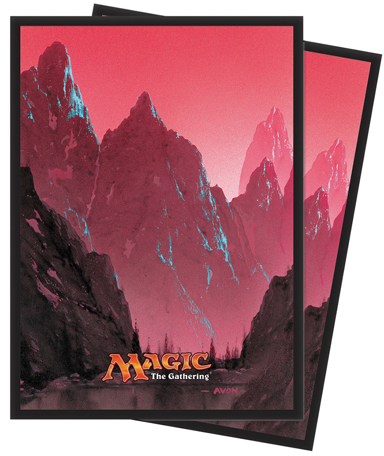 Magic The Gathering: Mana Series 5 Mountain Deck Protector Sleeves Box Front