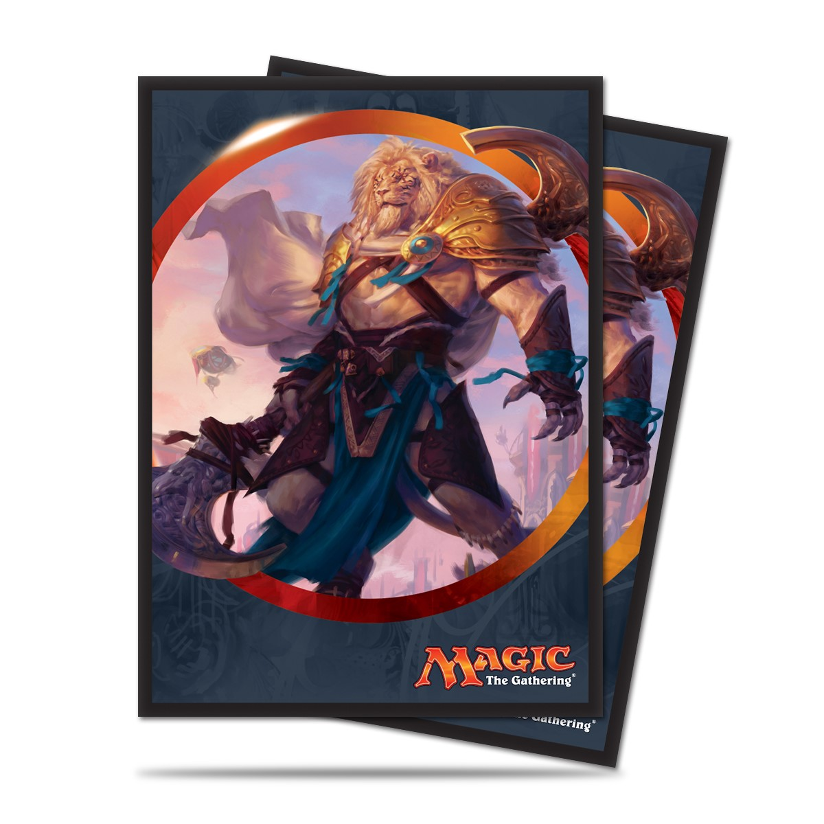 Magic The Gathering: Aether Revolt Standard Deck Protectors - Ajani Unyielding (80) Box Front