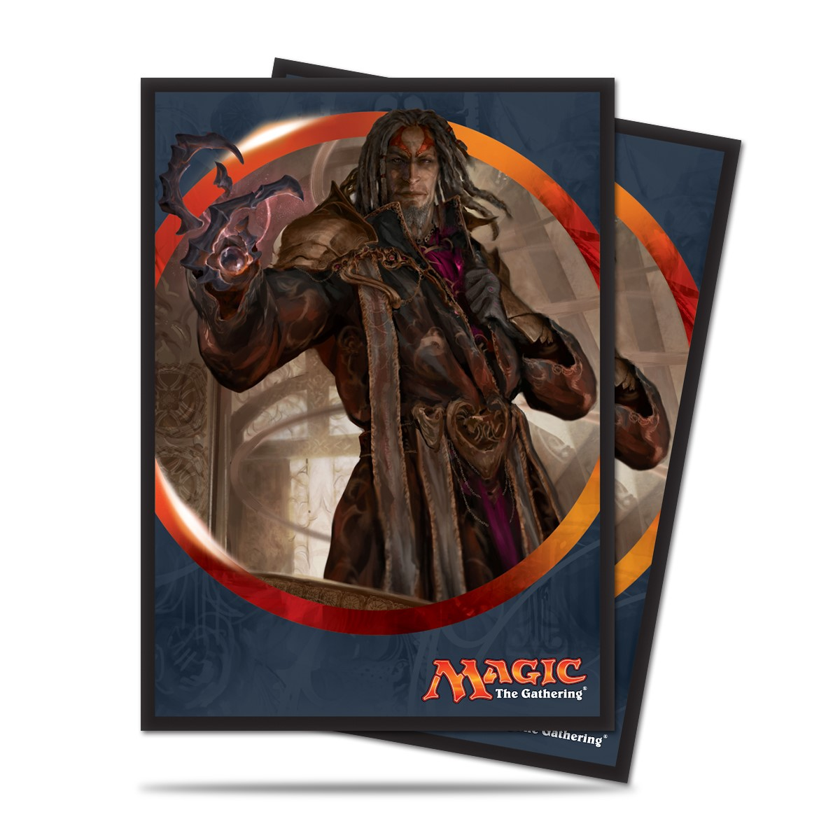 Magic The Gathering: Aether Revolt Standard Deck Protectors - Tezzeret The Schemer (80) Box Front