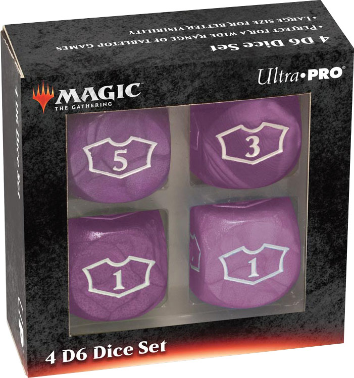 Magic The Gathering: Deluxe Loyalty Dice Set (4 D6 22mm) - Black Game Box