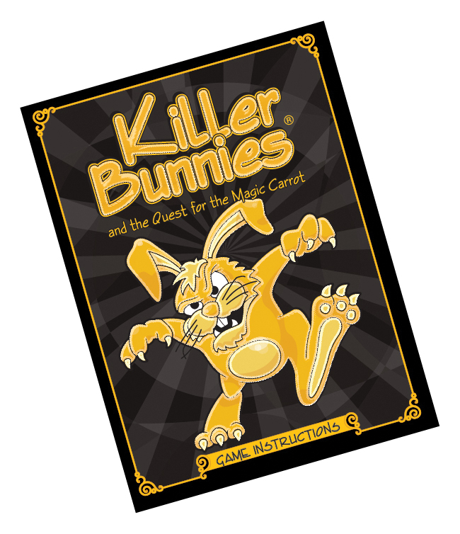 Killer Bunnies Quest Unsigned Rulebook Box Front