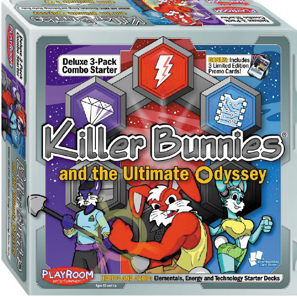 Killer Bunnies Odyssey Heroic And Azoic Starter Combo Box Front