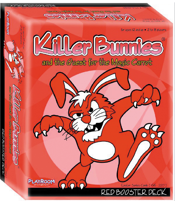 Killer Bunnies Quest Red Booster Box Front