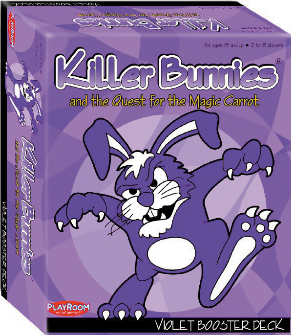 Killer Bunnies Quest Violet Booster Box Front