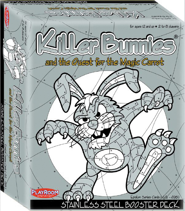 Killer Bunnies Quest Steel Booster Box Front