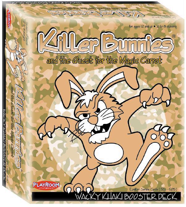 Killer Bunnies Quest Khaki Booster Box Front