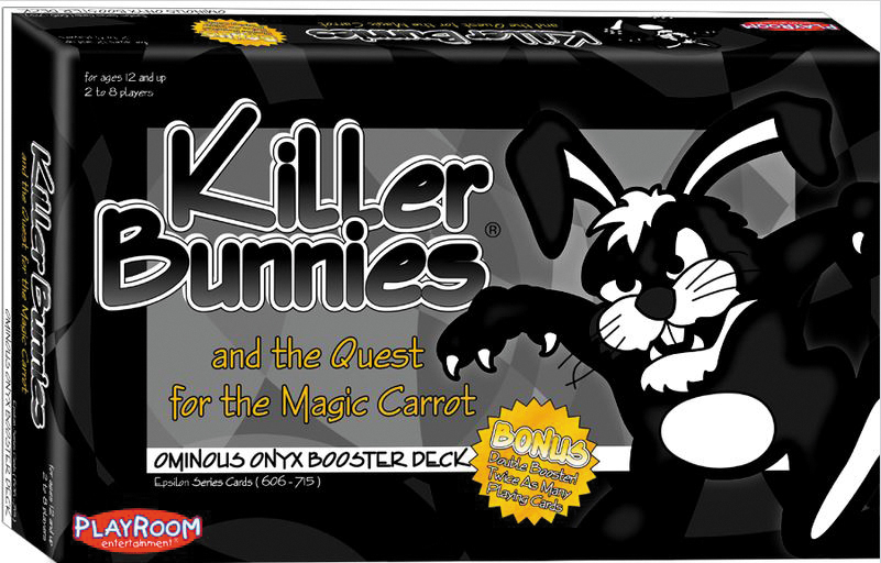 Killer Bunnies Quest Onyx Booster Box Front