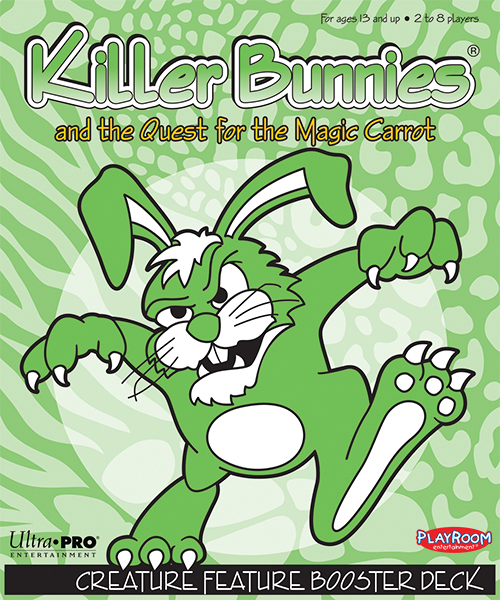Killer Bunnies Quest Creature Feature Booster Box Front