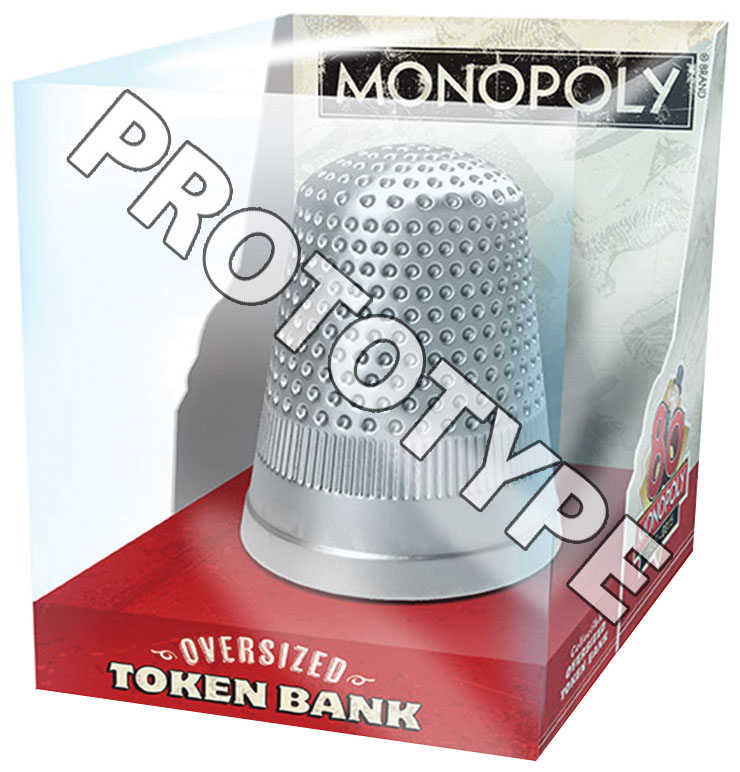 Monopoly Oversized Token Thimble Collector Bank Box Front