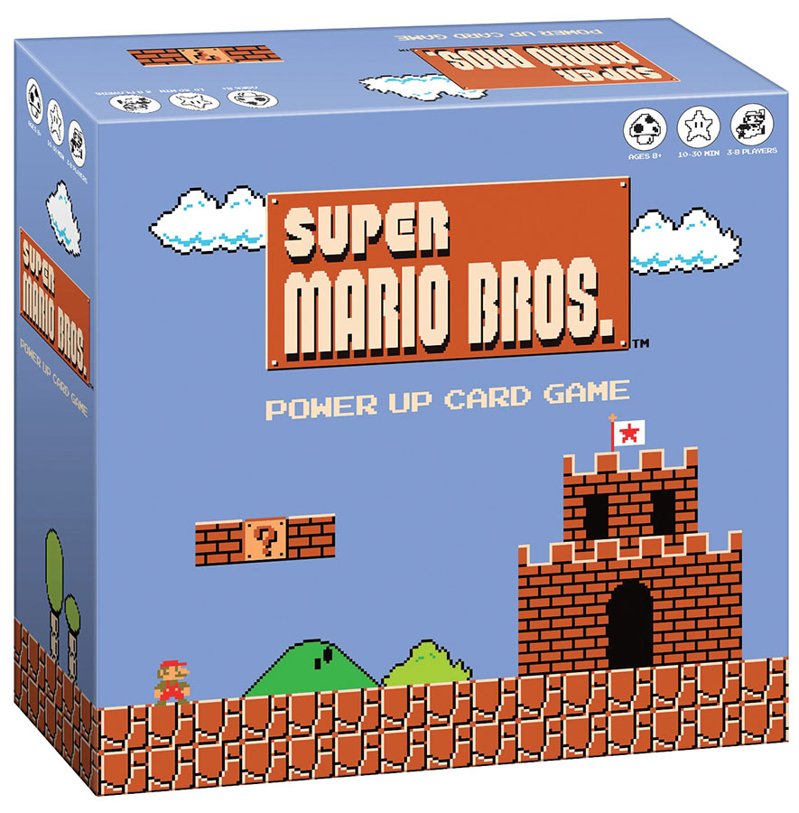 Super Mario Brothers Power Up Card Game Box Front