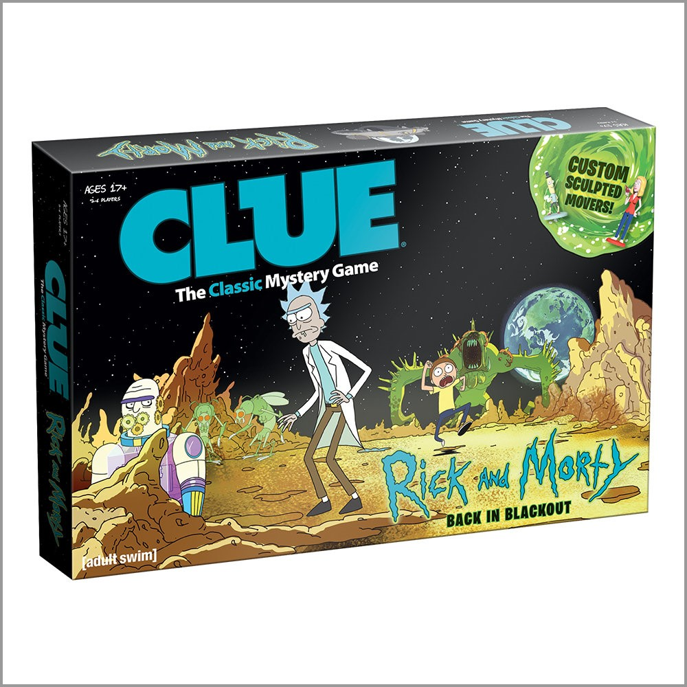 Rick And Morty Clue Box Front