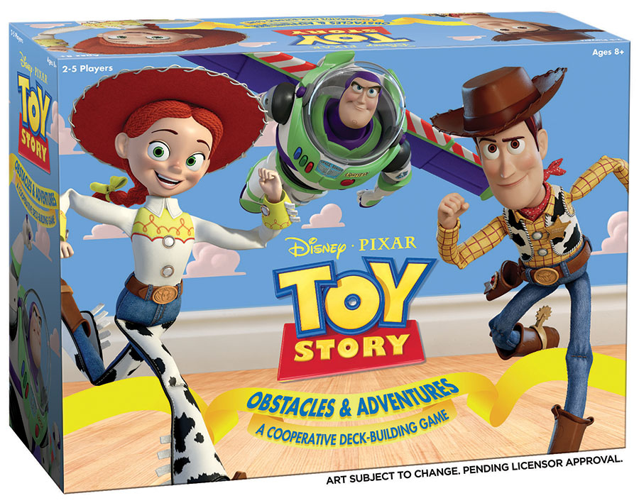 Toy Story Obstacles & Adventures: A Cooperative Deck Building Game Game Box