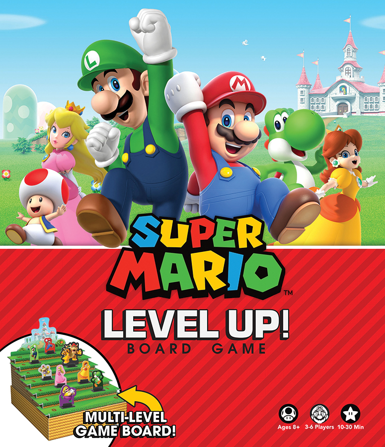 Super Mario Level Up Board Game Box Front