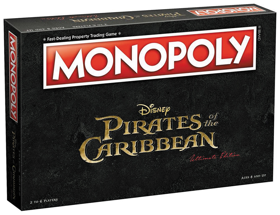 2017 Pirates Of The Caribbean Monopoly Box Front