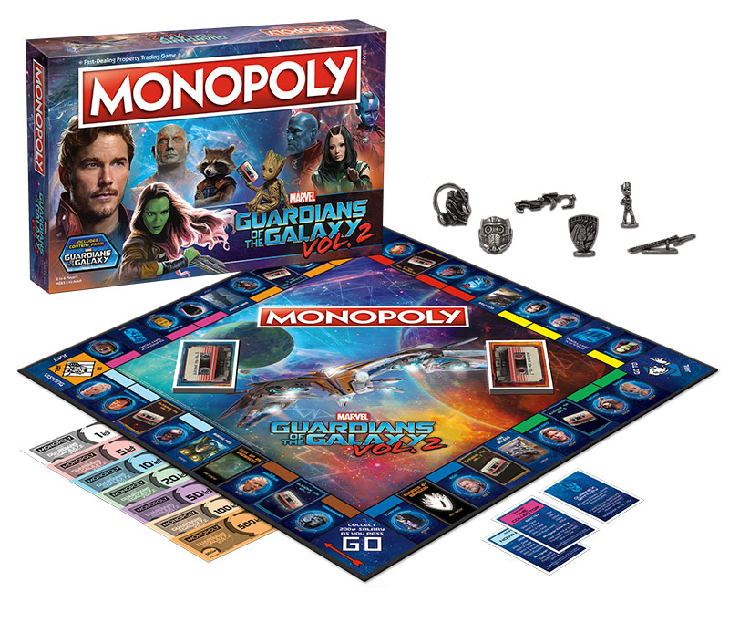 Guardians Of The Galaxy Volume 2 Monopoly Box Front