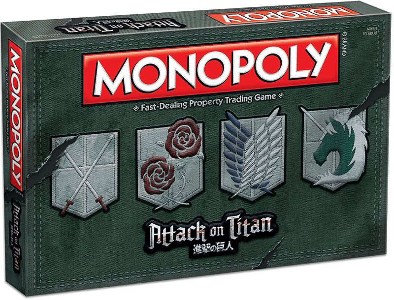 Attack On Titan Monopoly Box Front
