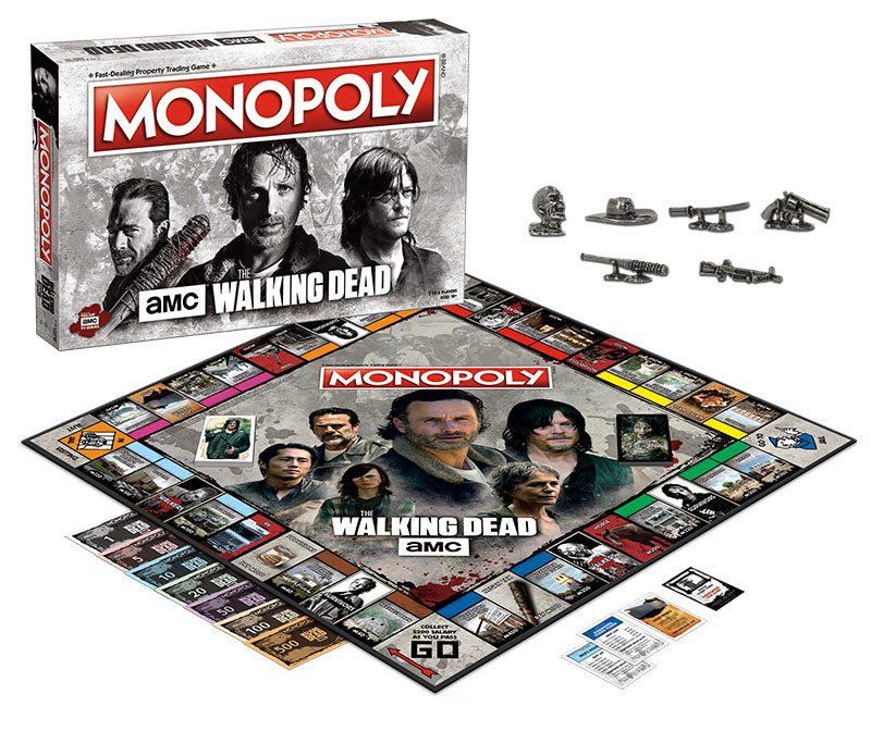 The Walking Dead Amc Monopoly Box Front