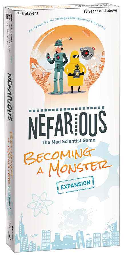 Nefarious: Becoming A Monster Expansion Box Front
