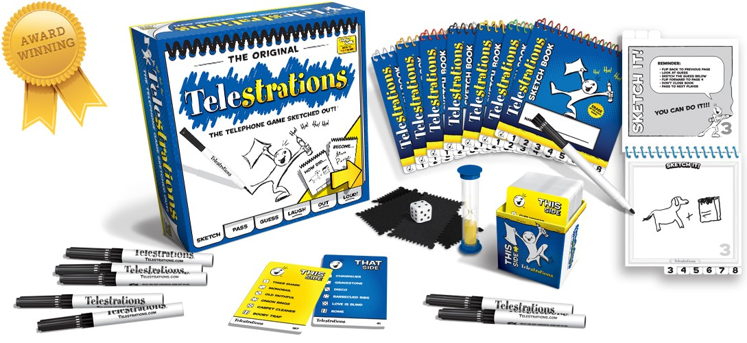 Telestrations Party Game Box Front
