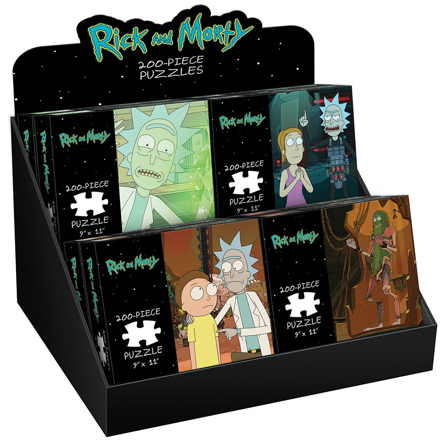 Rick And Morty 200 Piece Pdq Tray Puzzle Box Front