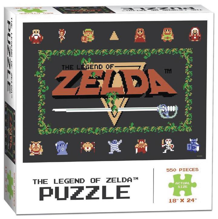 The Legend Of Zelda Classic 550 Piece Puzzle Box Front