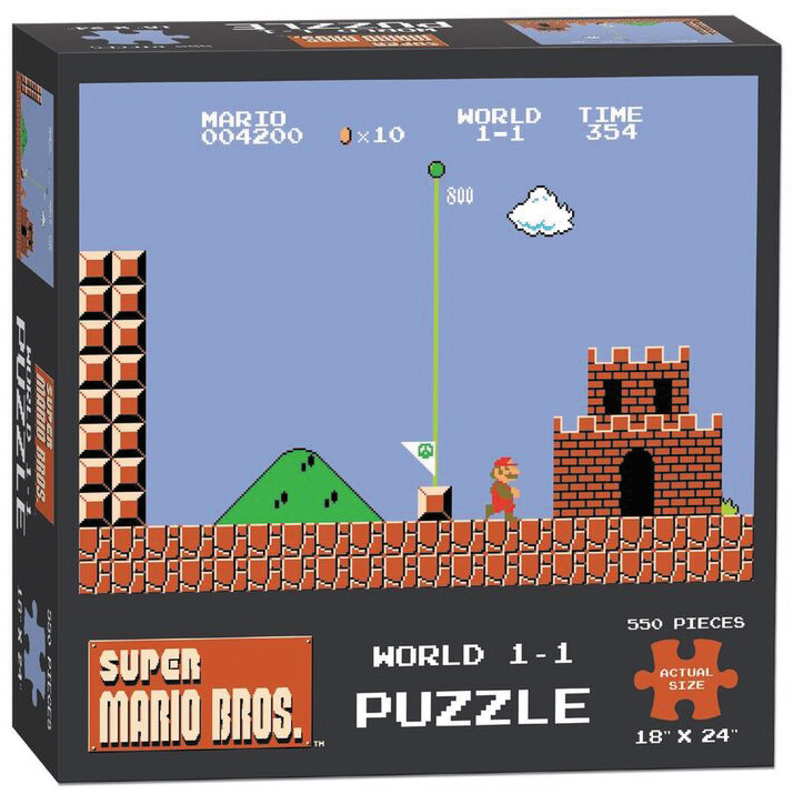 Super Mario Brothers World 1-1 550 Piece Puzzle Box Front