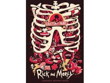 Rick And Morty Anatomy Park 1000 Piece Puzzle Game Box