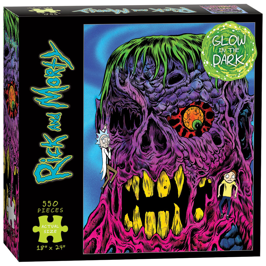Rick And Morty, Eye See You, Glow In The Dark 550 Piece Puzzle Box Front