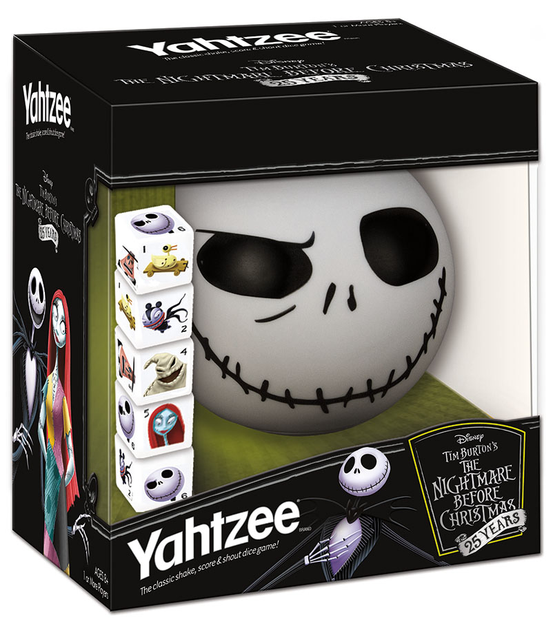 The Nightmare Before Christmas 25 Year Anniversary Edition Yahtzee Box Front