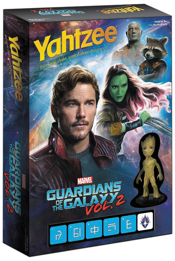Guardians Of The Galaxy Volume 2 Battle Yahtzee Box Front
