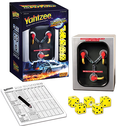 Back To The Future Yahtzee Box Front