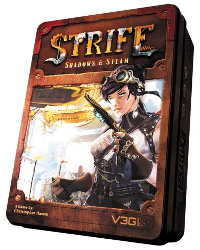 Strife: Shadows & Steam Box Front