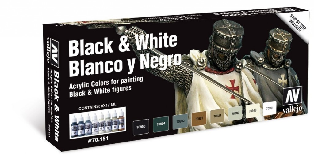 Model Color Set: Black And White (8) Box Front