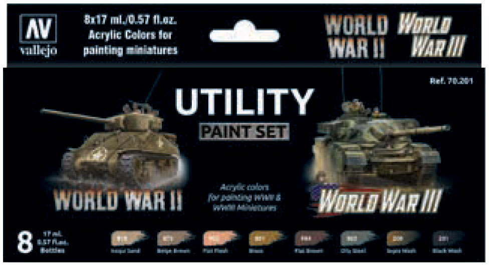 Model Color: Utility Paint Set Wwii & Wwiii Game Box