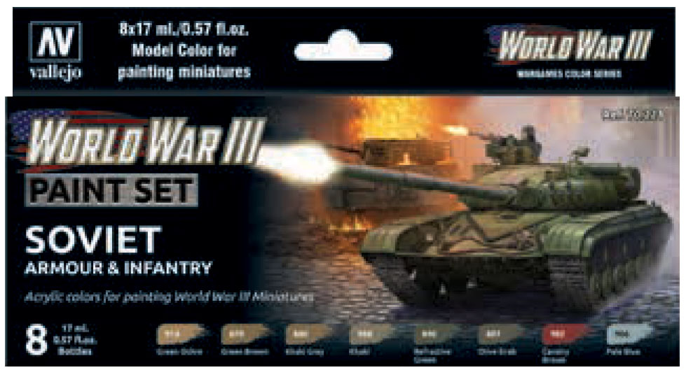 Model Color: Wwiii Paint Set - Soviet Armour & Infantry Game Box