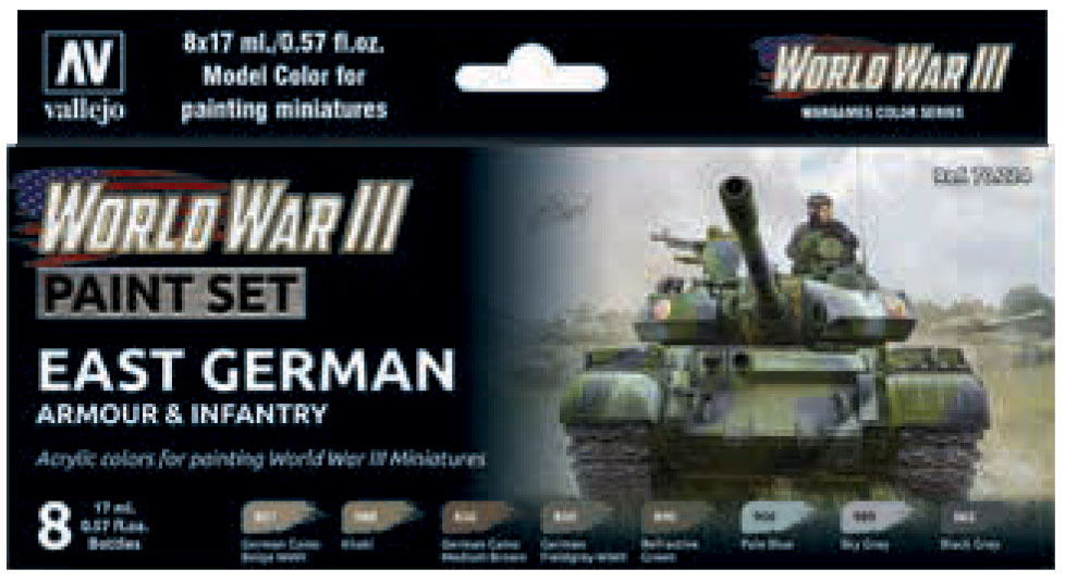 Model Color: Wwiii Paint Set - East German Armour & Infantry Game Box