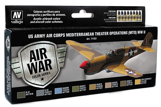 Model Air Set: Us Army Corps Mediterranean Theater Wwii (8) Box Front
