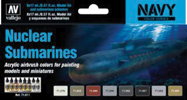 Model Air: Nuclear Submarines Game Box
