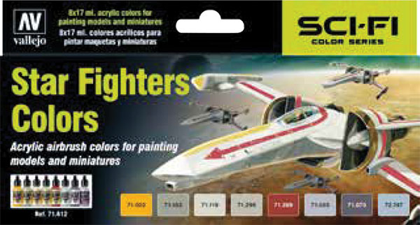 Model Air: Star Fighter Colors Game Box