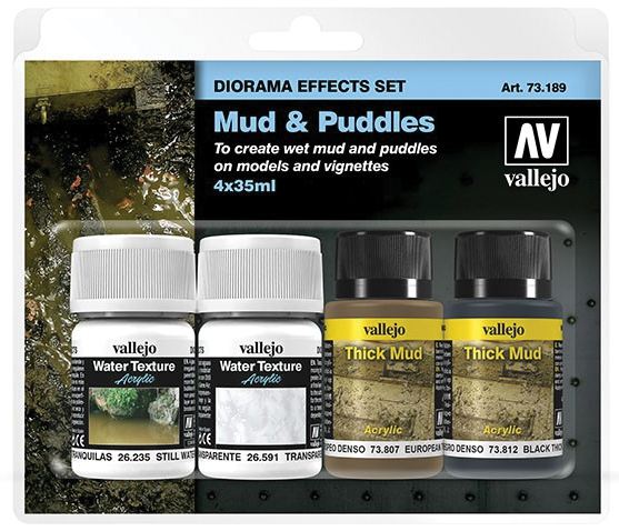 Diorama Effects: Mud & Puddles (4) (35ml) Box Front