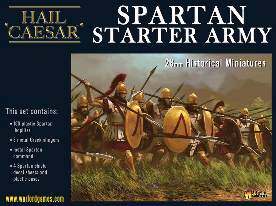 Hail Caesar: Spartan Starter Army Box Front