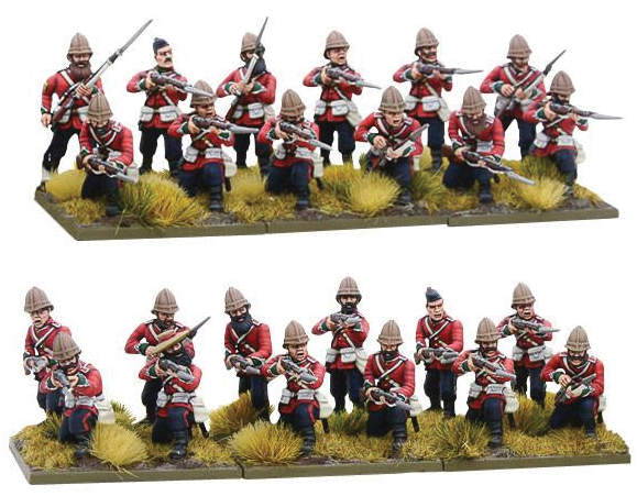 Black Powder: Anglo Zulu War British Line Infantry Regiment Box Front