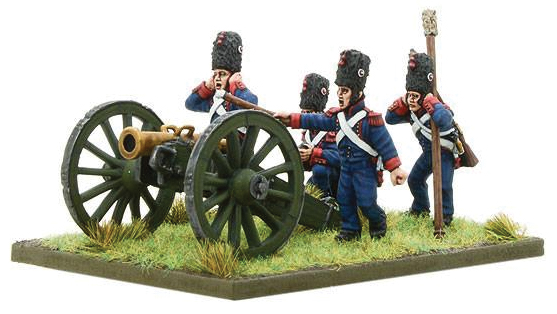 Black Powder: French Imperial Guard Foot Artillary Firing Howitzer Box Front