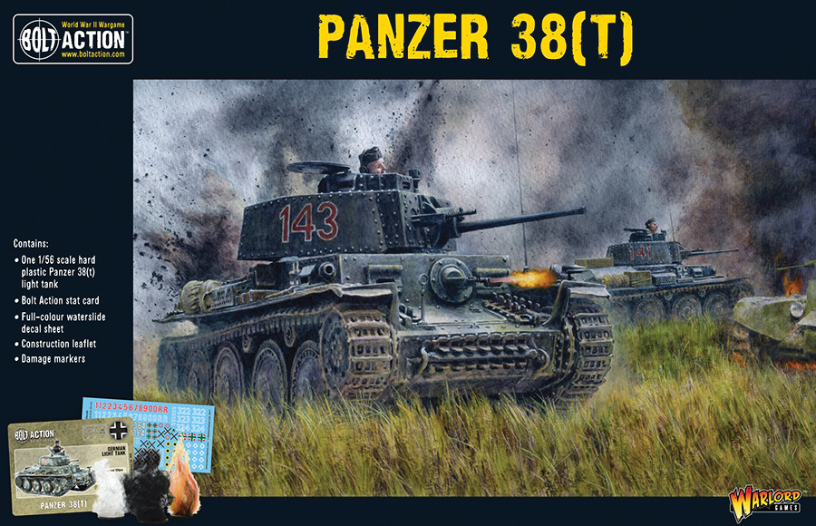 Bolt Action: German Panzer 38(t) Box Front
