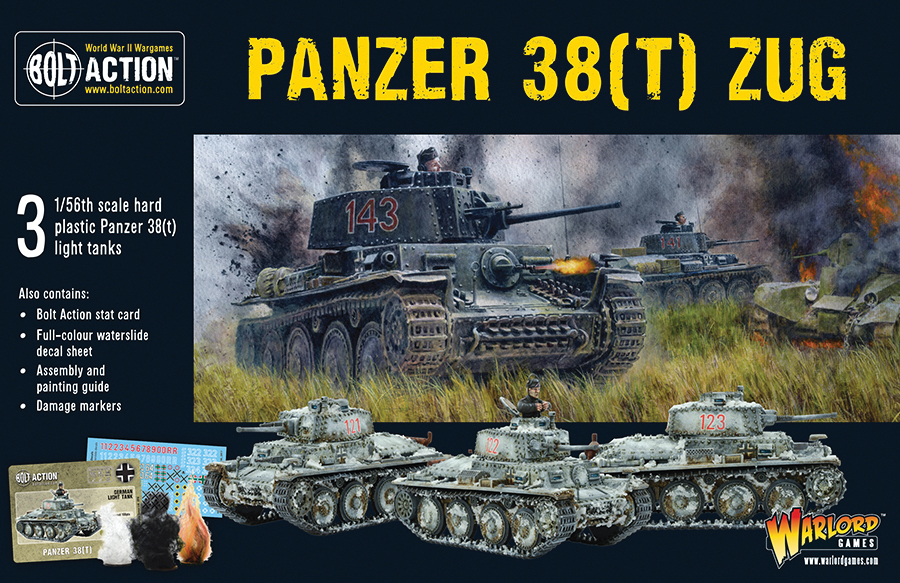 Bolt Action: German Panzer 38(t) Zug Box Front