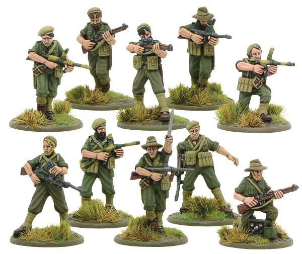 Bolt Action: Australian Independent Commando Squad Box Front