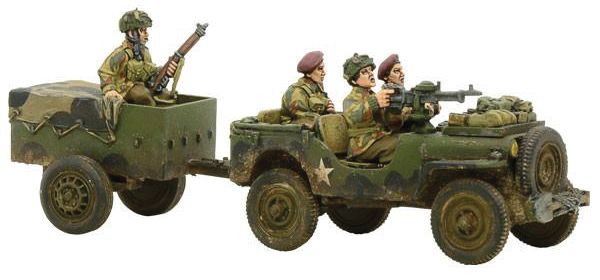 Bolt Action: British Airborne Jeep & Trailer Box Front