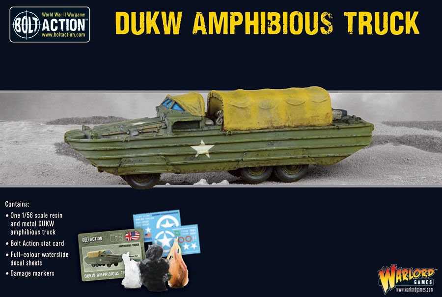 Bolt Action: Korea - Us Dukw Amphibious Truck Game Box