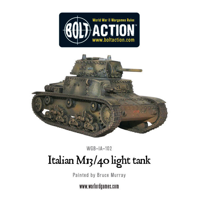 Bolt Action: Italian M13/40 Tank Box Front