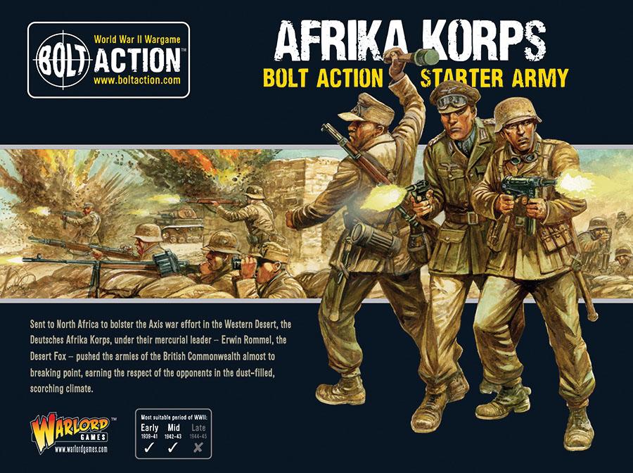 Bolt Action: German Afrika Korps Starter Army Game Box